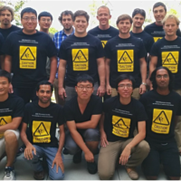 UCSB's student chapter of IEEE's Photonics Society, with faculty advisor John Bowers (top left)