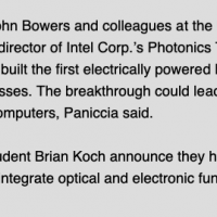 John Bowers and Brian Koch is mentioned in the article